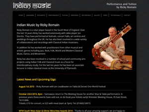 Ricky Romain, Indian Music