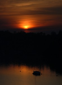 Sunset over the Dart, 2005